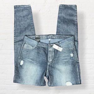 Soho NY&Co Distressed Legging Jeans Size 8